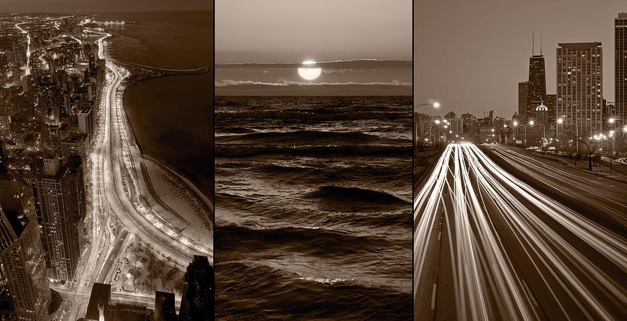 Chicago Photograph - Lakeshore Chicago by Steve Gadomski