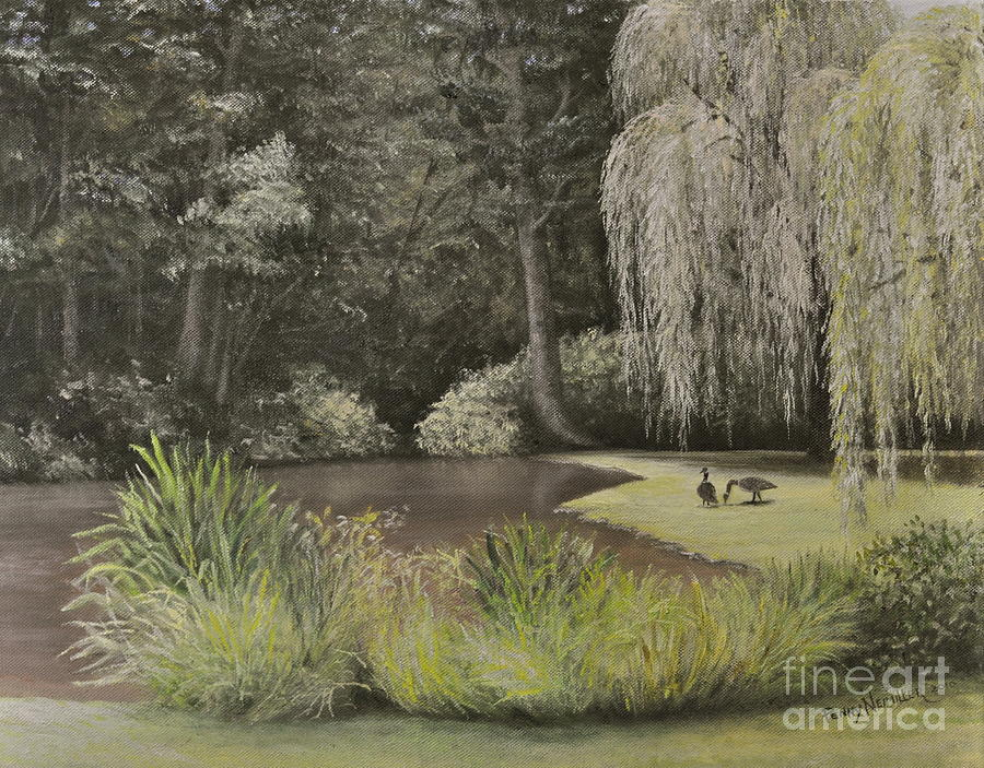 Oil Paintings Painting - Lakeside At Mountain Playhouse by Penny Neimiller