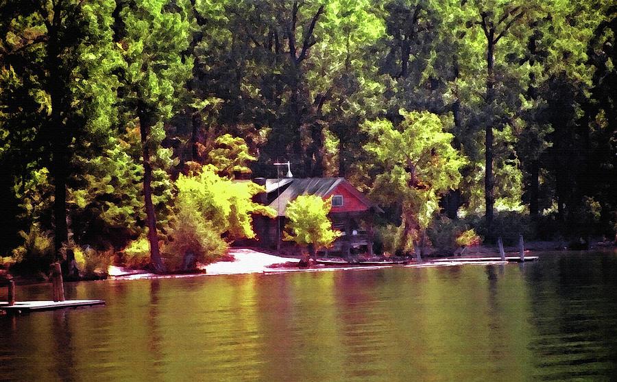 Lakeside Cabin In Idaho Usa Photograph by Steve Ohlsen