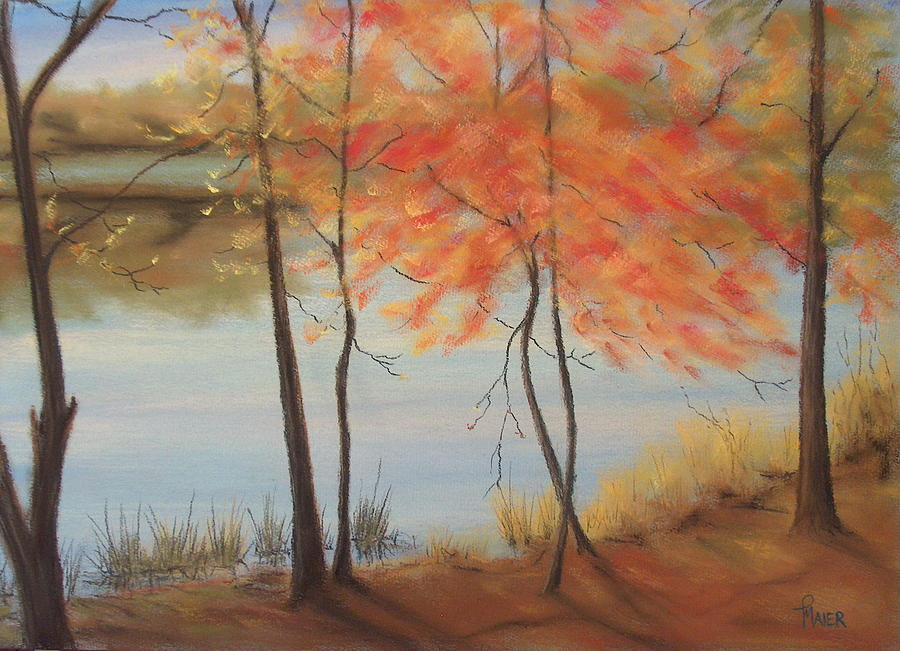 Fall Foliage Painting - Lakeside Dancers IIII by Pete Maier
