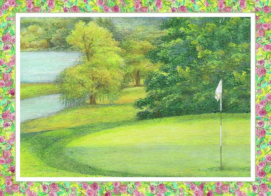 Lakeside Golfing Illustration by Judith Cheng