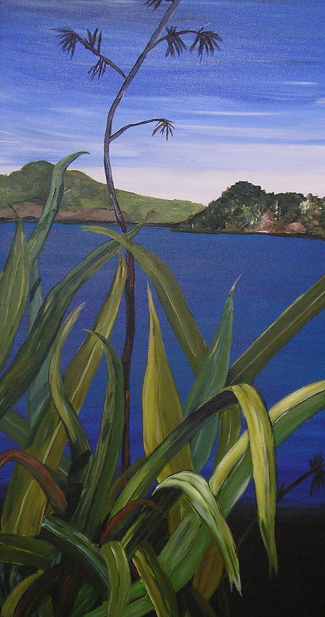 Lakeside Painting by Sher Green