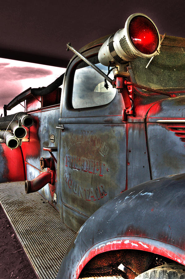 Firetruck Photograph - Lakewood Mountair Fire Dept.  by Kevin Munro