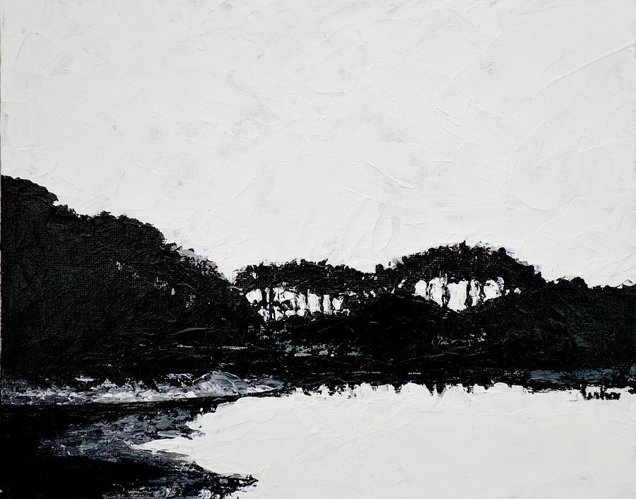 Landscape Painting - Lal Bagh Lake 3 by Usha Shantharam