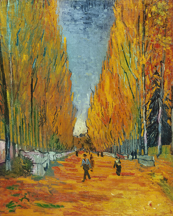 Park Painting - LAllee des Alyscamps  Arles by Vincent van Gogh