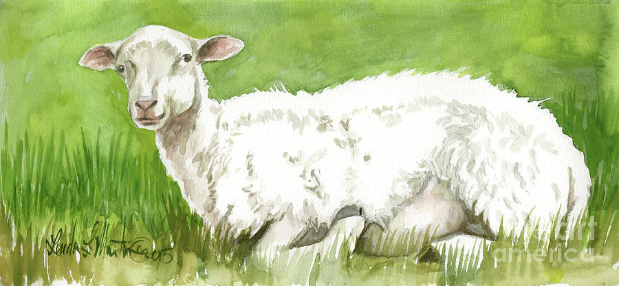Lamb in Spring by Linda L Martin