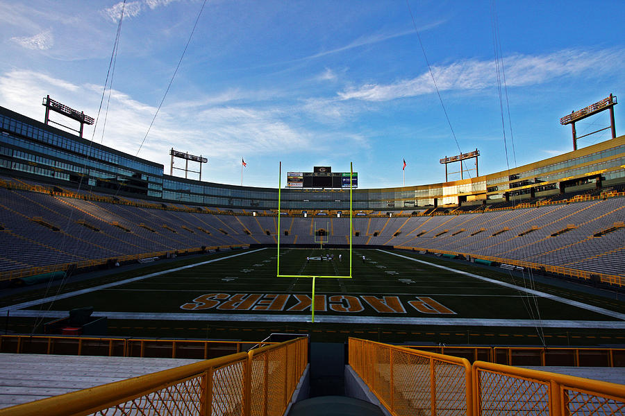 Green Bay Photograph - Lambeau Endzone Two by Ty Helbach