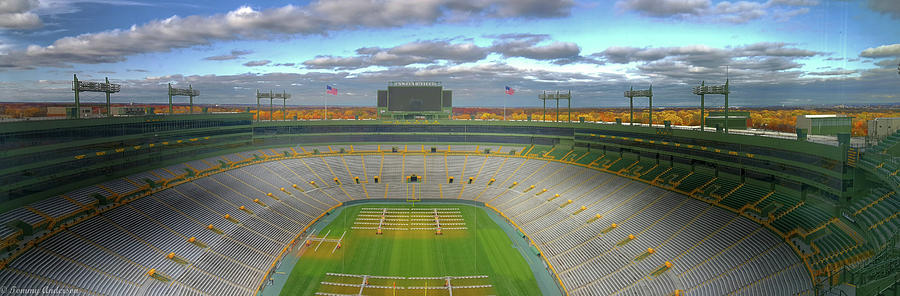 Lambeau Field Panoramic Photograph By Tommy Anderson