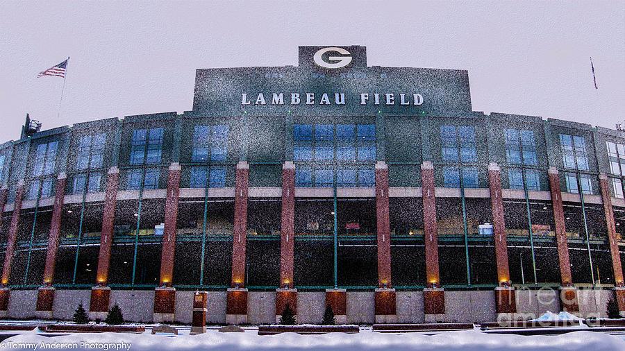 Lambeau Field Photograph - Lambeau  by Tommy Anderson