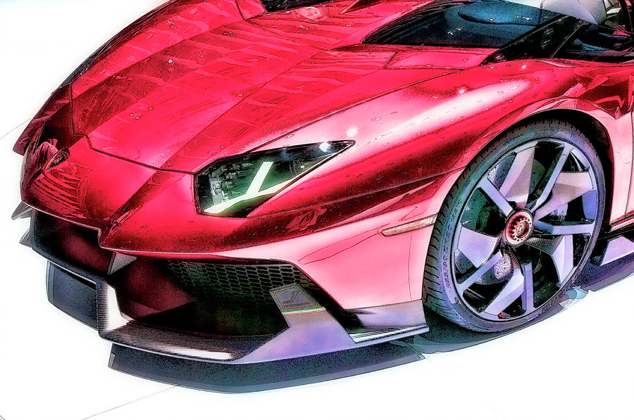 Lamborghini Aventador J Digital Art By Duschan Tomic