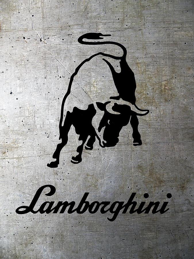 Lamborghini Bull Logo On Shop Metal Digital Art By Daniel Hagerman