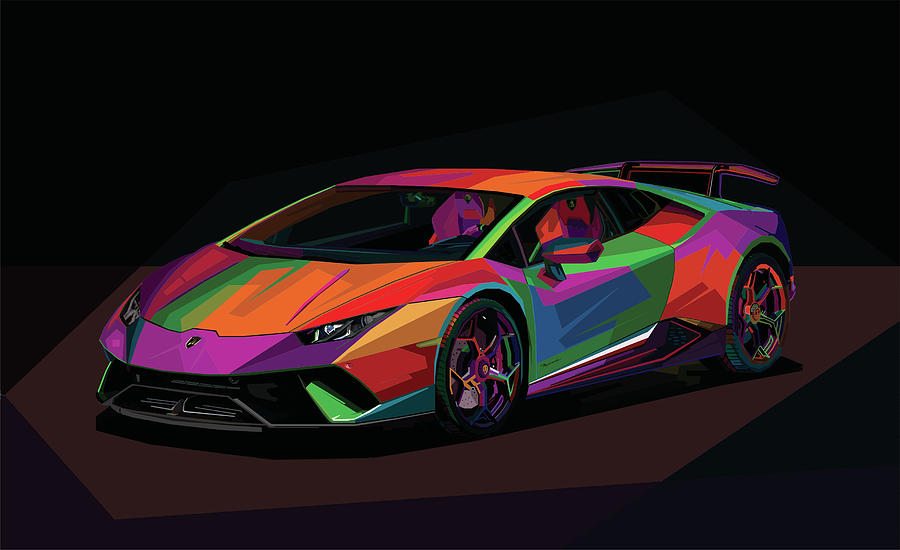 Lamborghini Huracan 2018 Drawing By Naufal Opank