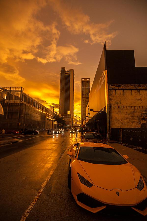 Lamborghini Photograph - Lamborghini Sunrise by Dan Vidal