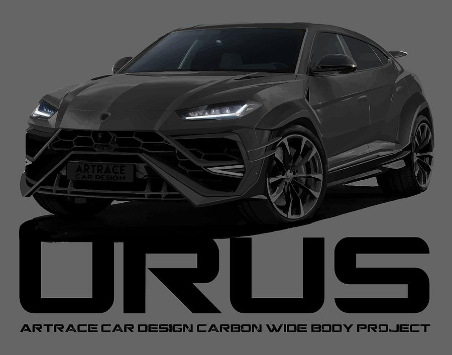 Lamborghini Urus Carbon Car Design Black Project Digital Art By
