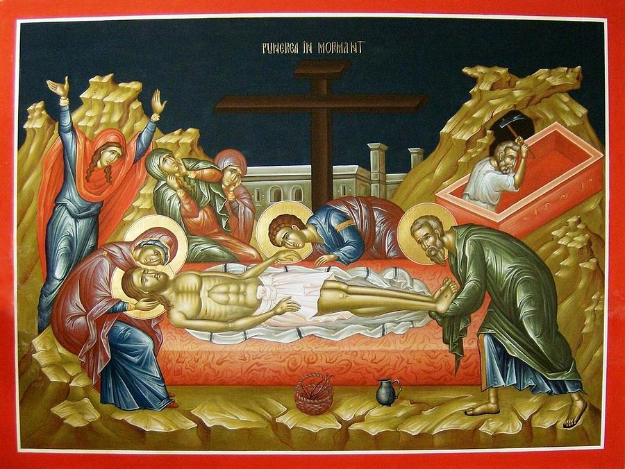 Joseph Of Arimathea Painting - Lamentation Upon The Grave by Daniel Neculae