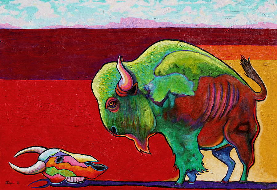 Wildlife Painting - Lamenting the Leader by Joe  Triano