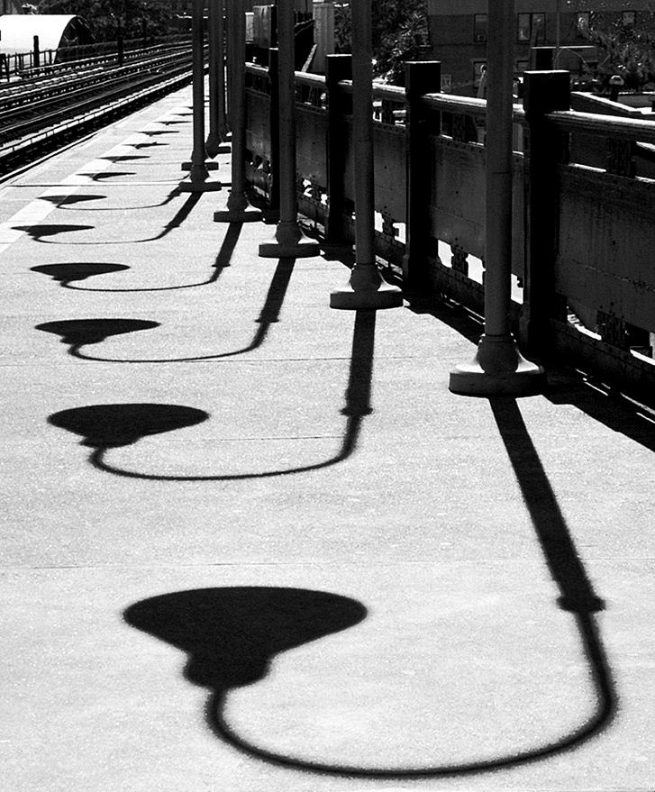 Shadow Photograph - Lamp Parade by Michael Cohen