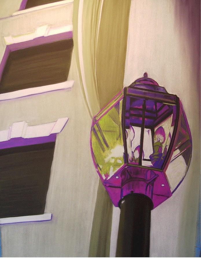 Lamp Post Drawing by Cheryl Bosch