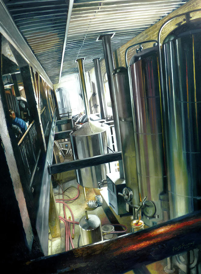 Brewery Painting - Lancaster Brewery by Gregg Hinlicky