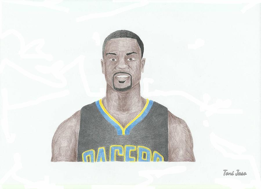 Basketball Drawing - Lance Stephenson by Toni Jaso