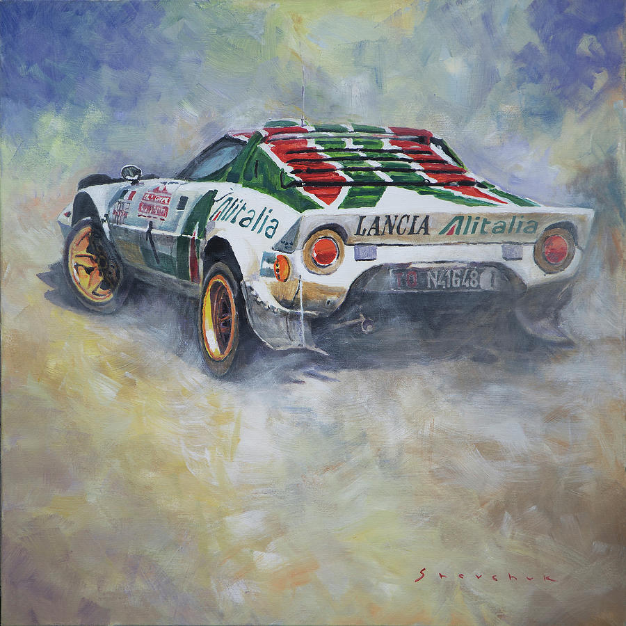 Automotive Painting - Lancia Stratos 1976 Rallye Sanremo by Yuriy Shevchuk