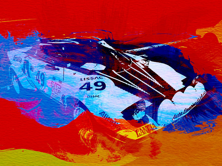 Stratos Painting - Lancia Stratos Watercolor 2 by Naxart Studio