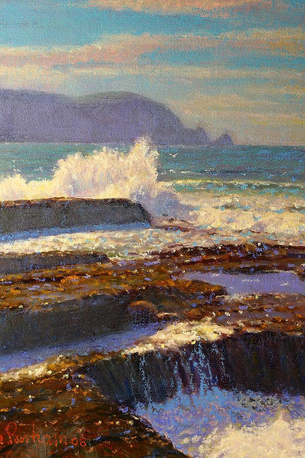 Impressionist Painting - Land Meets Sea by Terry Perham