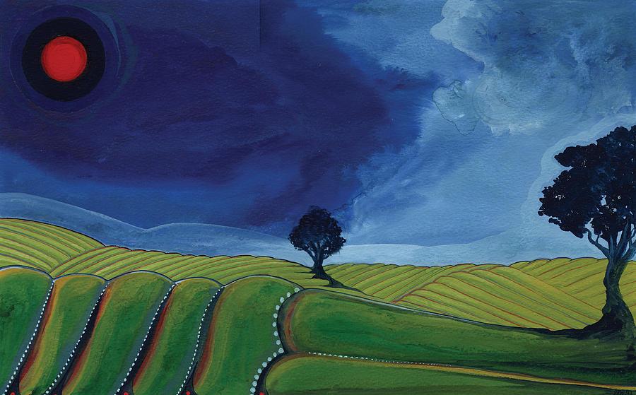 Land Painting - Land by Nicholas Breeze Wood