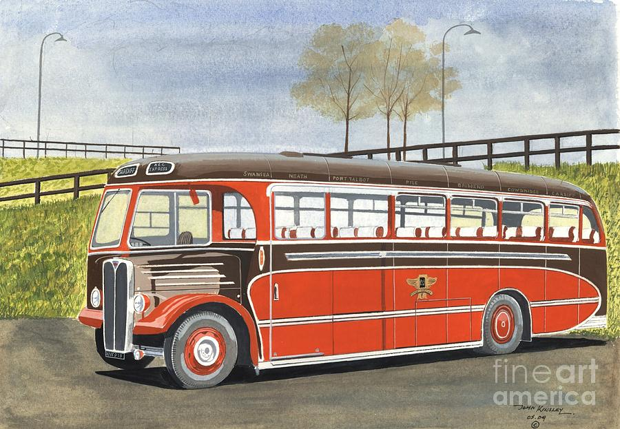 Transportation Painting - Land Of Brown Bombers by John Kinsley
