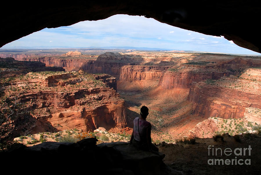 Woman Photograph - Land Of Canyons by David Lee Thompson