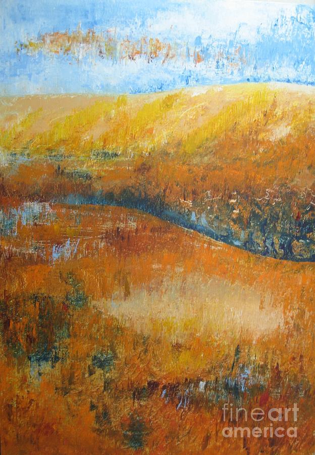 Landscape Painting - Land Of Richness by Stella Velka