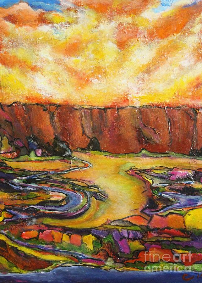 Landscape Painting - Land Of Silence by Chaline Ouellet