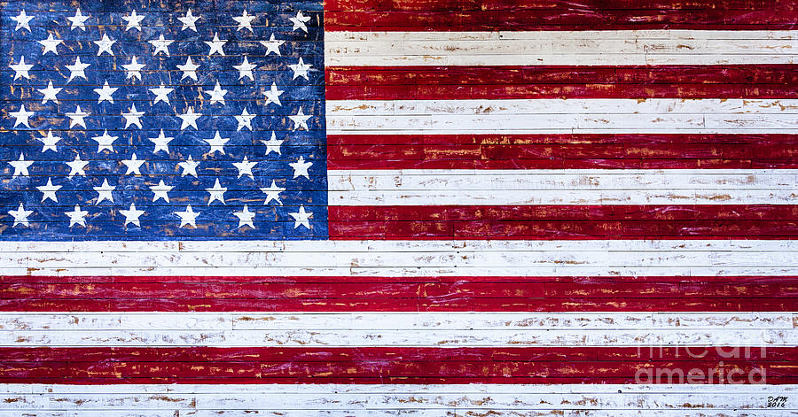 Land of the Free,American Flag Canvas Print,Photographic Print,Art Print,Framed Print,Greeting Card, by David Millenheft