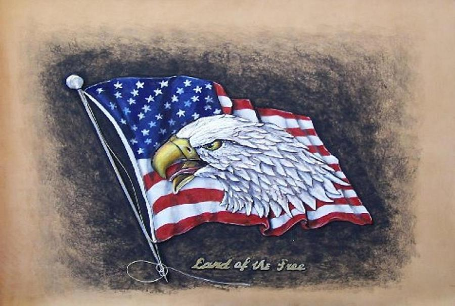 Birds Painting - Land Of The Free by Lilly King