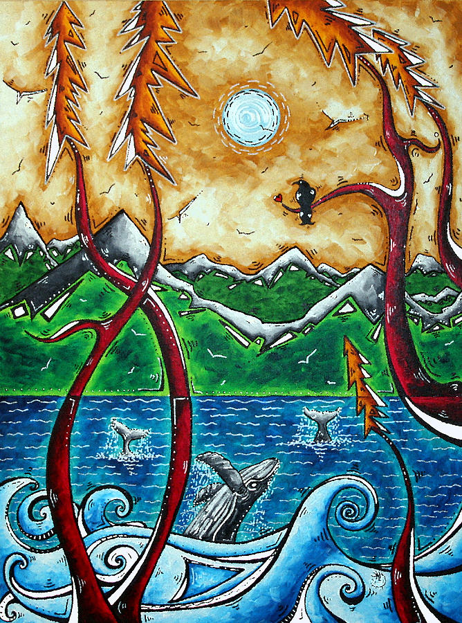 Painting Painting - Land Of The Free Original Madart Painting by Megan Duncanson