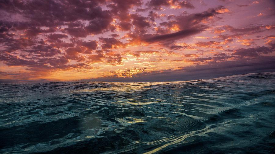 Wave Photograph - Land Of The Rising Sun by Joseph McGrew