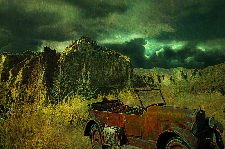 Landscape Digital Art - Land Rover by Jeff Burgess