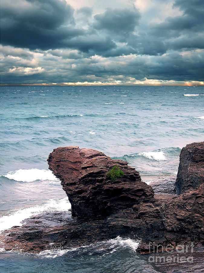Nature Photograph - Land Water Sky by Phil Perkins