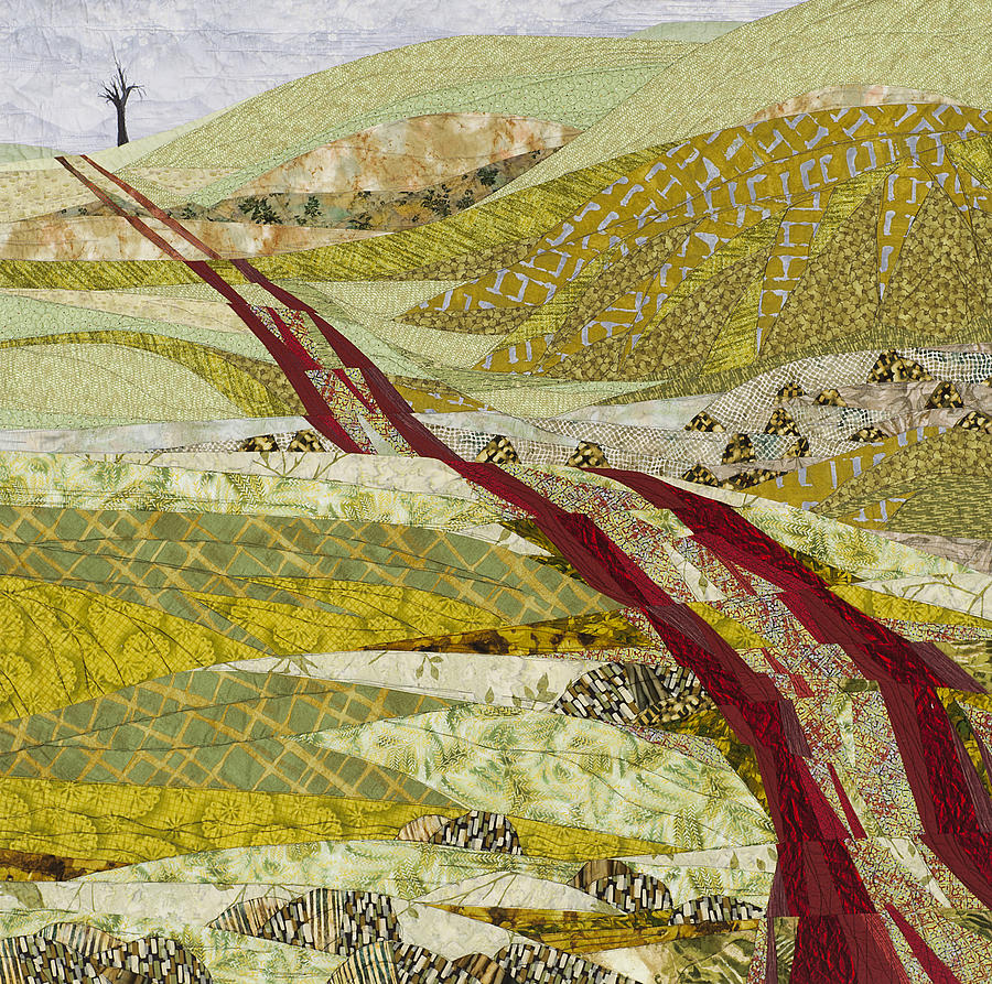 Landscape Tapestry - Textile - Landmarks by Linda Beach