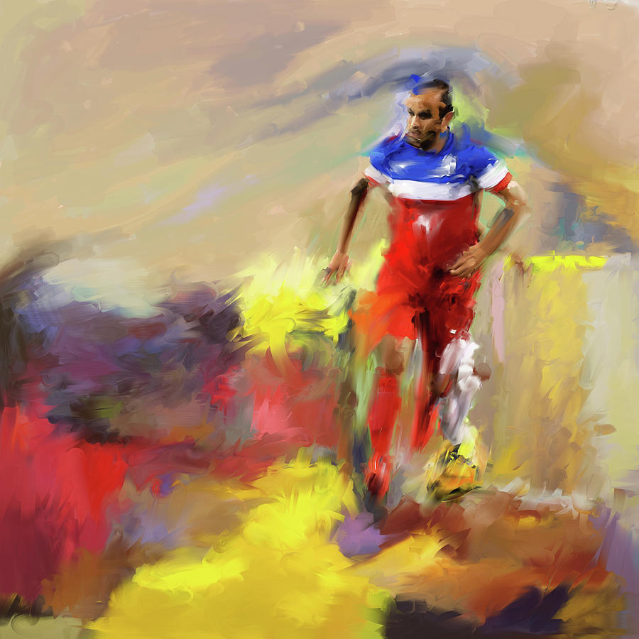 Football Painting - Landon Donovan 545 1 by Mawra Tahreem