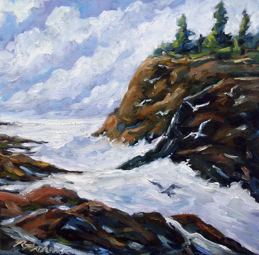 Painting Painting - Lands End by Richard T Pranke