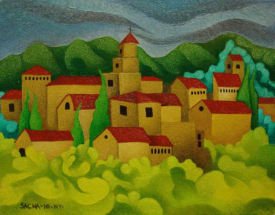 Landscape  2010 Painting by S A C H A -  Circulism Technique