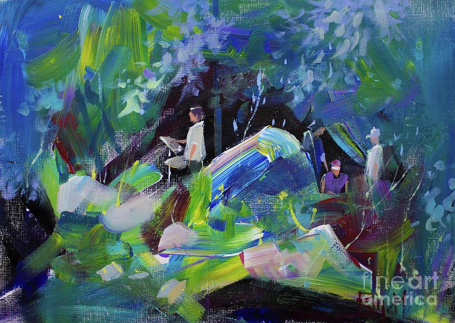 Landscape Painting - Landscape 4 by Raj Maji