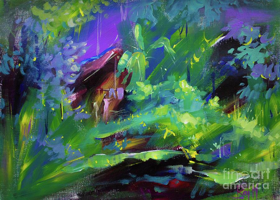 Brush Work Painting - Landscape 5 by Raj Maji