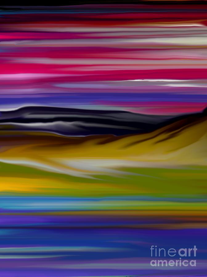 Digital Fantasy Painting Digital Art - Landscape 7-11-09 by David Lane