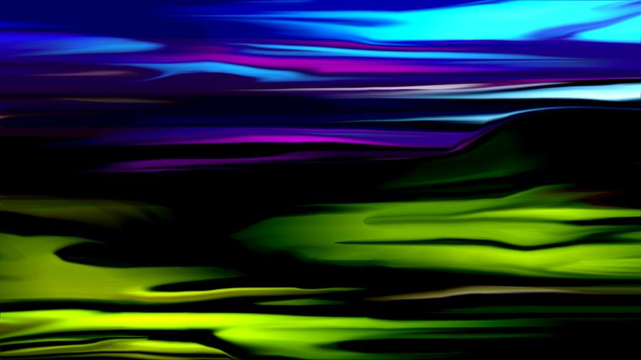 Abstract Expressionism Digital Art - Landscape 8-05-09 by David Lane