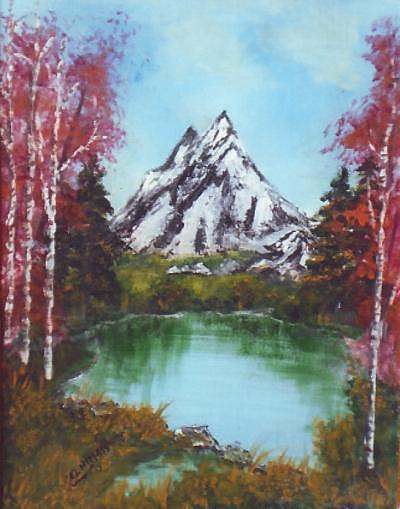 Landscape Painting by Abdelmajid  elhimass