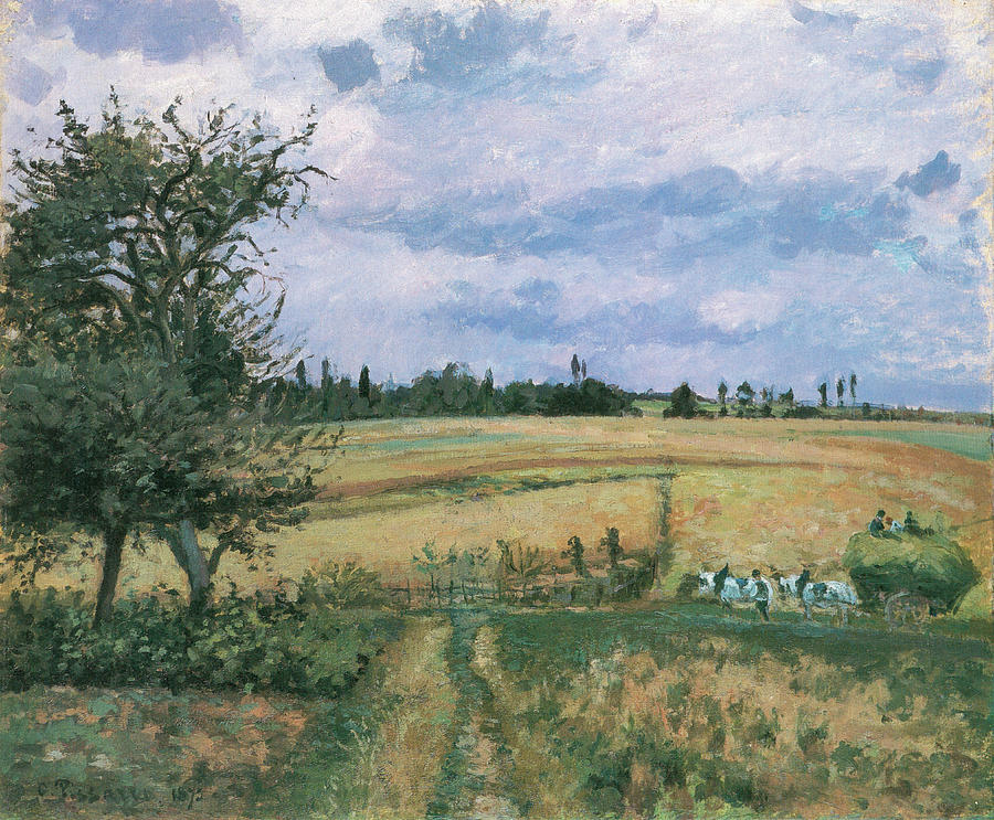 Camille Pissarro Painting - Landscape At Pontoise by Camille Pissarro