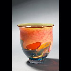 Landscape Bowl Glass Art by Barrie Bredemeier