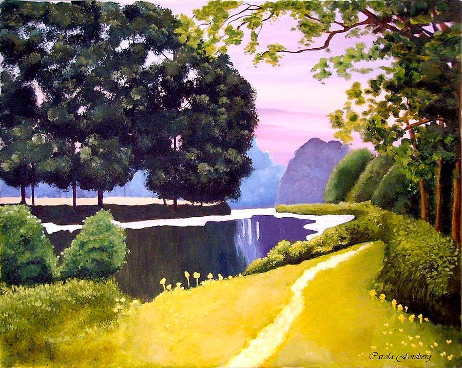 Rural Painting - Landscape  by Carola Ann-Margret Forsberg